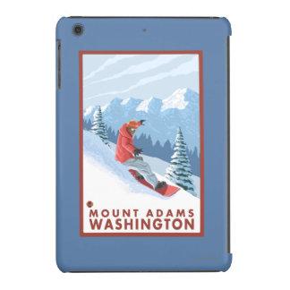 Snowboarder Scene - Mount Adams, Washington iPad Mini Case