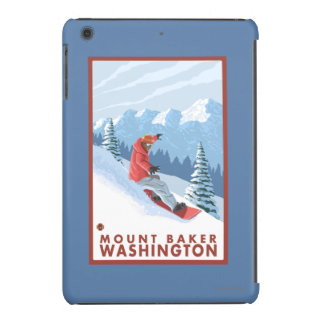 Snowboarder Scene - Mount Baker, Washington iPad Mini Retina Cases