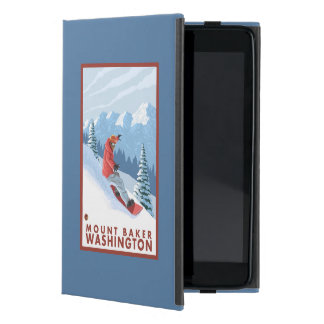 Snowboarder Scene - Mount Baker, Washington iPad Mini Covers