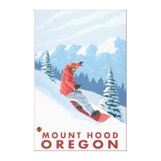 Snowboarder Scene - Mount Hood, Oregon Canvas Print