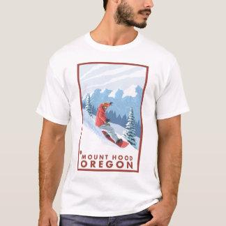 Snowboarder Scene - Mount Hood, Oregon T-Shirt