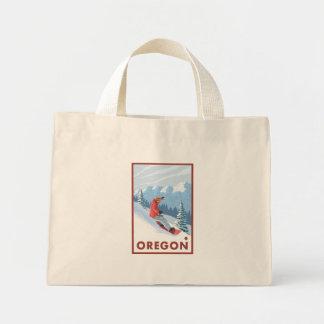 Snowboarder Scene - Oregon Tote Bags