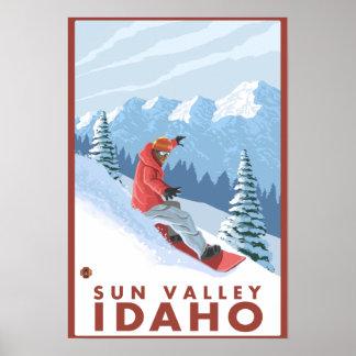 Snowboarder Scene - Sun Valley, Idaho Poster