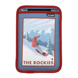 Snowboarder Scene - The Rockies iPad Mini Sleeve
