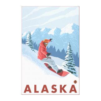 Snowboarder Scene- Vintage Travel Poster 2 Canvas Print