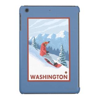Snowboarder Scene - Washington iPad Mini Retina Case
