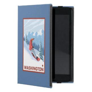Snowboarder Scene - Washington Cover For iPad Mini