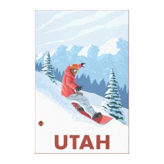 Snowboarder SceneUtah Canvas Print