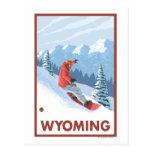Snowboarder SceneWyoming Tarjetas Postales