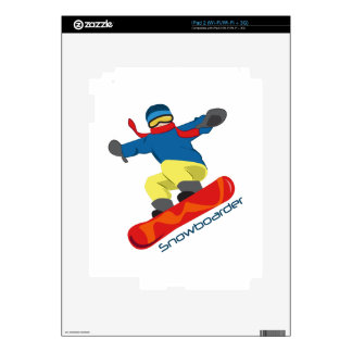 Snowboarder Decal For iPad 2