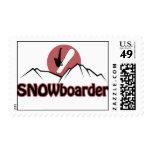 Snowboarder Stamp