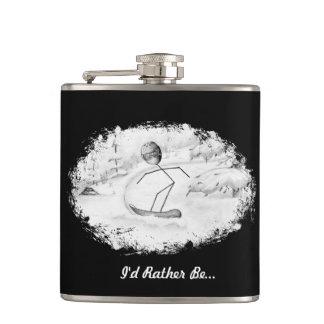 Snowboarder Stickman Flask