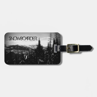 Snowboarder Tag For Luggage