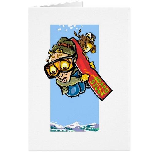 Snowboarder Tarjeta