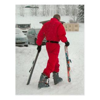 Snowboarder Tarjeta Postal