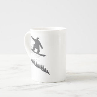 Snowboarder Tea Cup