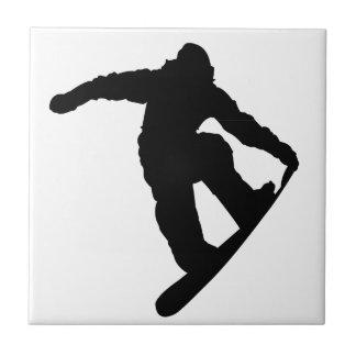 Snowboarder Ceramic Tiles