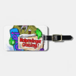 Snowboarder Travel Bag Tag