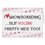 Snowboarder Valentine Card - I heart Snowboarding