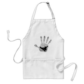 SNOWBOARDER WINTER MXING ADULT APRON