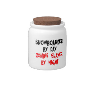 Snowboarder Zombie Slayer Candy Dishes
