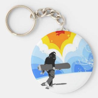 Snowboarders Horizon - Key Chain