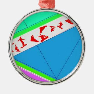 Snowboarders Metal Ornament