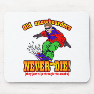 Snowboarders Mouse Pad
