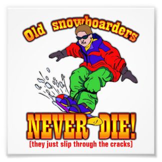 Snowboarders Photographic Print