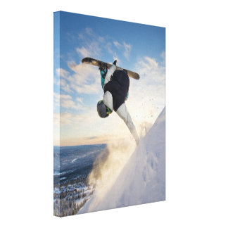 """Snowboarding 11"""" x 14"""" Wrapped Canvas"""