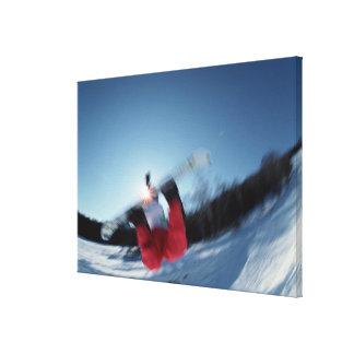 Snowboarding 12 canvas print