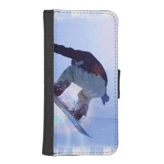 snowboarding-12 fundas cartera para teléfono