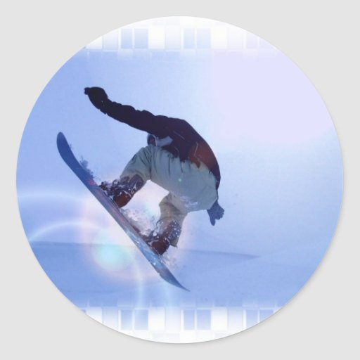 snowboarding-12 pegatina redonda