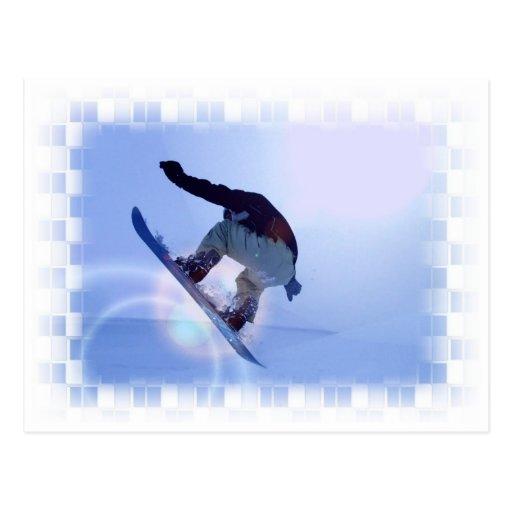 snowboarding-12 tarjeta postal