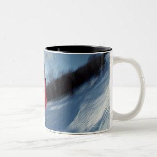 Snowboarding 12 Two-Tone coffee mug