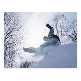 Snowboarding 13 postcard