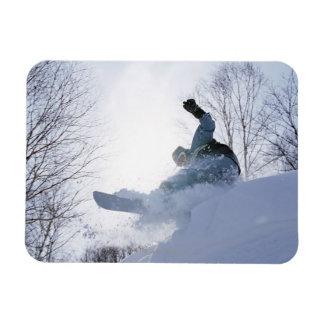 Snowboarding 13 rectangular photo magnet