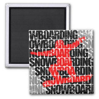 Snowboarding #1 (blk) magnet