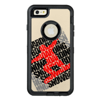 Snowboarding #1 (blk) OtterBox defender iPhone case