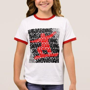 McTiffany Tiffany Aqua Snowboarding #1 (blk) ringer T-Shirt