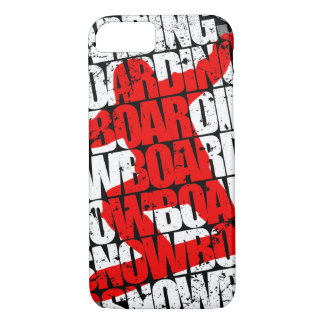 Snowboarding #1 (wht) iPhone 8/7 case
