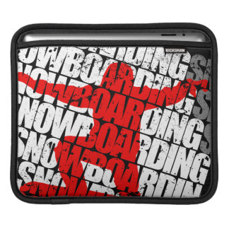 Snowboarding #1 (wht) sleeve for iPads