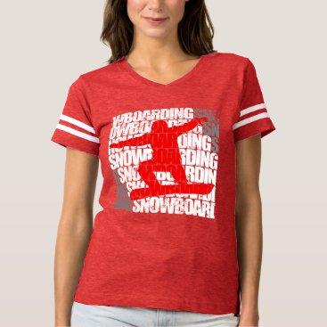 McTiffany Tiffany Aqua Snowboarding #1 (wht) t-shirt