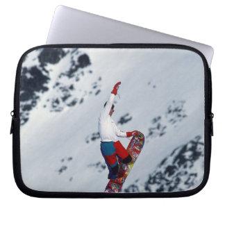 Snowboarding 2 laptop computer sleeves