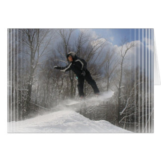 Snowboarding 360 Greeting Card