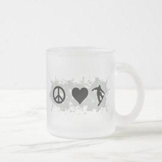 Snowboarding 3 coffee mugs