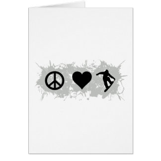 Snowboarding 3 greeting cards