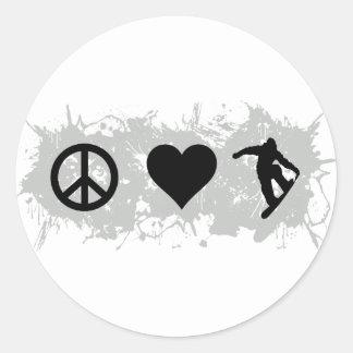 Snowboarding 3 stickers