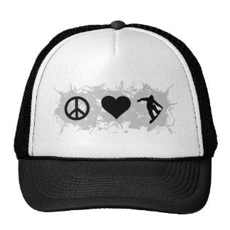 Snowboarding 3 trucker hat