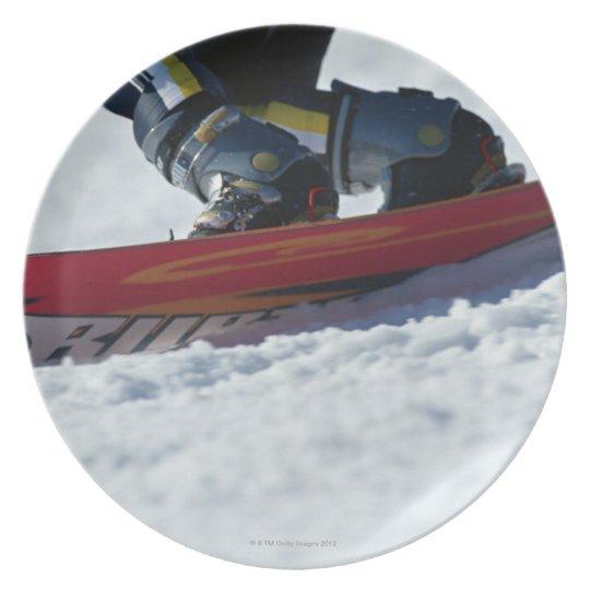 Snowboarding 4 dinner plate